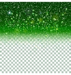 Shiny particles on green background vector
