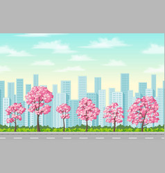 spring in the city vector image vector image