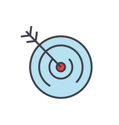 target goal vision concept line icon vector image