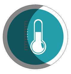 Termometer temperature isolated icon vector