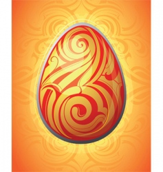 tribal Easter egg vector image