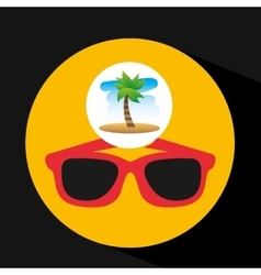 Tropical vacation beach sunglasses accesorie vector
