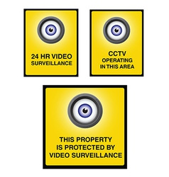 Video surveillance camera sign part 2 vector
