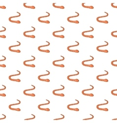 Worm pattern cartoon style vector image