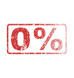 0 percent rubber stamp vector