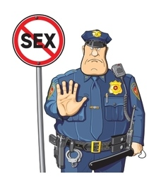 Cop prohibits sex vector