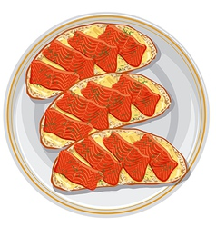 Sandwiches with a salmon vector