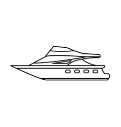 Sport yacht isolated vector