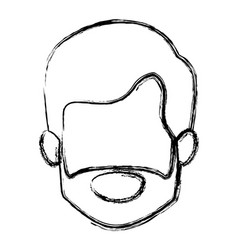 monochrome blurred silhouette of old man faceless vector image