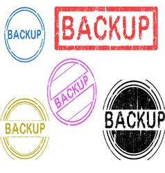 5 grunge stamps backup vector