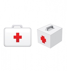 First aid boxes vector