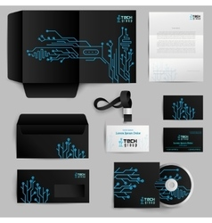 Corporate identity technology pattern vector