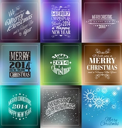 Merry christmas vintage retro typo backgrounds vector