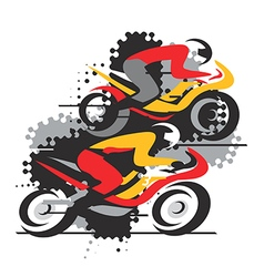 Motorbike competition vector