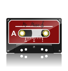 Audio cassette-my music vector