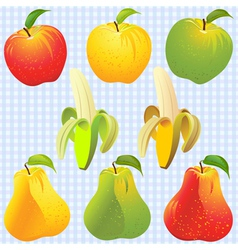 Apples pears bananas vector