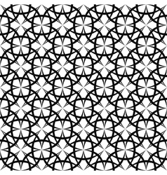 Seamless monochromatic curved line pattern design vector
