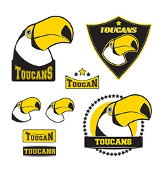 Set of toucan logos vector