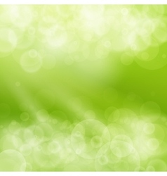 Green spring bokeh background vector
