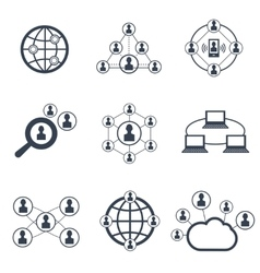 Social network with people symbols icons vector