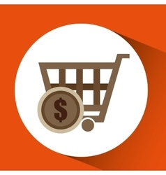 Basket buy commerce buy business vector
