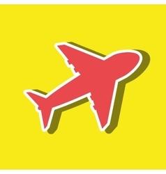 airplane icon design vector image