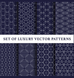 asian luxury patterns pack vector image