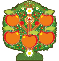 Big Apple Tree Isolated vector image vector image
