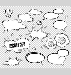 big set of cartoon comic speech bubbles empty vector image vector image