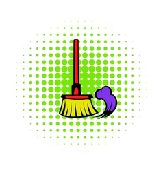Brush for a floor icon comics style vector image vector image