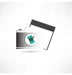 camera and photo card vector image vector image