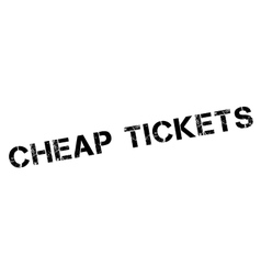 Cheap tickets rubber stamp vector