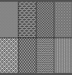 cloth seamless patterns fabric net vector image vector image