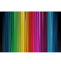 Colorful Black Stripe vector image vector image
