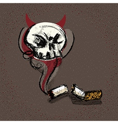 Concept Sketch Smoking Kill vector image