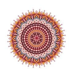 Decorative arabic round lace ornate mandala vector image vector image