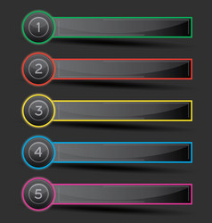 design infographic with five options vector image