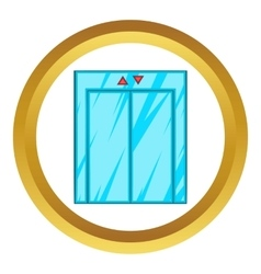 Elevator with closed door icon vector image