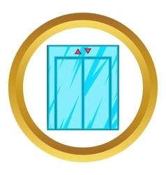 Elevator with closed door icon vector