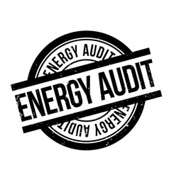 Energy audit rubber stamp vector