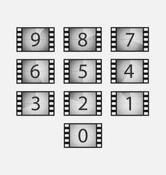 film countdown set vector image