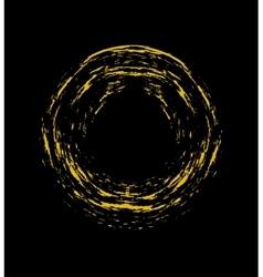 Golden grunge circle vector image vector image