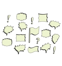 Hand-drawn comics bubles frames vector