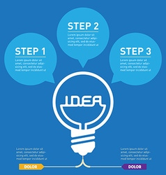 Inscription idea inside bulb light Infographics vector image
