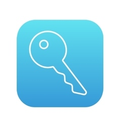 Key for house line icon vector image