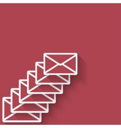 Letter mail symbol vector