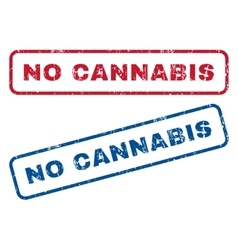 No cannabis rubber stamps vector