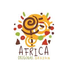Original african logo of stylized sunshine vector