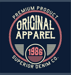 Original apparel superior vector
