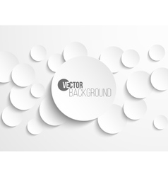 Paper circle banner with drop shadows vector image vector image